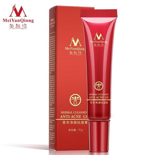 Herbal Cleansing Gel Face Anti Acne Treatment Cream Herbal Scar