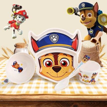 Hot Genuine Paw Patrol Melamine Bowl Spoon Plate Headgear Chapeau Puppy Print Party Kids Dinnerware Children's Toy Birthday Gift