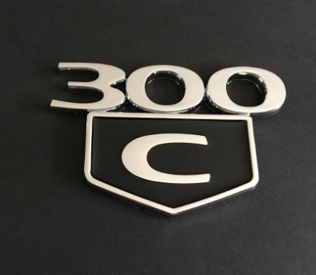 2PC 300C Emblem Badge Trunk Decklid For Chrysler 300 C HEMI 2005 2006 2007 2008 2009 2010-2019
