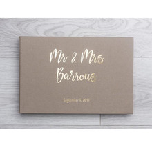 Mr&Mrs Wedding Guest Book customize foil gold memory book engagement guestbook alternative Ideas Book planner book Color Choices