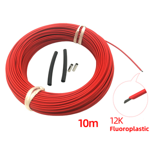 10 meters +connection kits 12k 33Ohm Fluoroplastic Carbon Fiber Heating Cable Floor Electric Warm Wire, Room heater Hotline