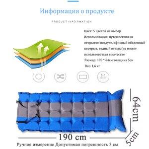 Image 3 - Tapis de couchage de tente de Camping coussin de coussin gonflable automatique matelas dair unique