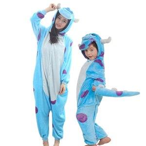 Image 3 - Enfants mère et fille à capuche pyjamas ensemble animal licorne pégase pyjamas famille correspondant pyjamas tenues hiver vêtements de nuit