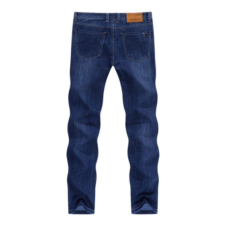 KSTUN Spring and Autumn Men Jeans Classic Straight Business Casual Blue Jeans Stretch Denim Pants Trousers Gentlemen Big Size 12