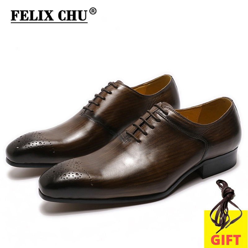 Men Genuine Leather Shoes Hand Painted Mens Business Dress Luxury Wedding Office Lace Up Pointed Toe Shoes For Men Oxford Shoes