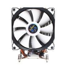 LANSHUO cpu тихий двойной вентилятор 4 тепловые трубки 4 провода интеллектуальный контроль температуры кулер для процессора вентилятор для Intel 775/1150/1155/1156/1366/