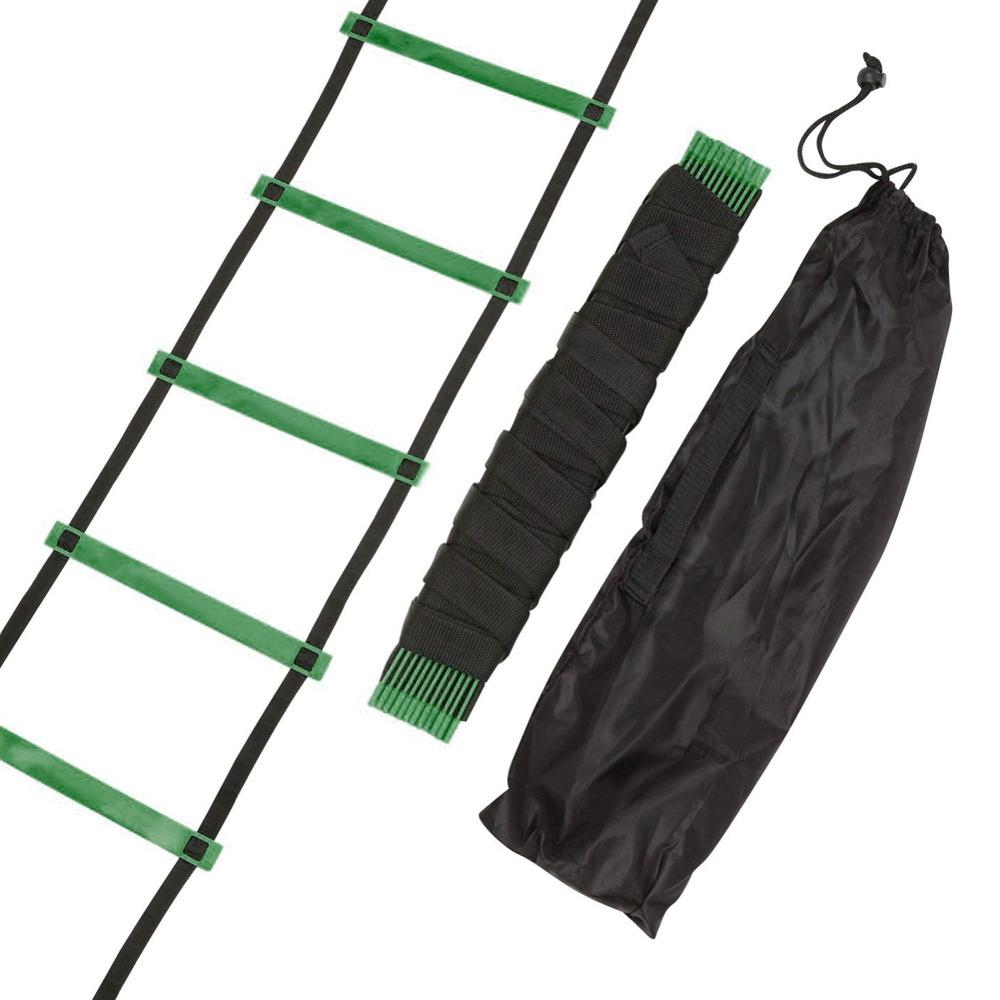 3 Color 4/6/7/9/12/14 Rung Nylon Straps Agility Training Ladders Soccer Football Speed Ladder Training Stairs Fitness Equipment