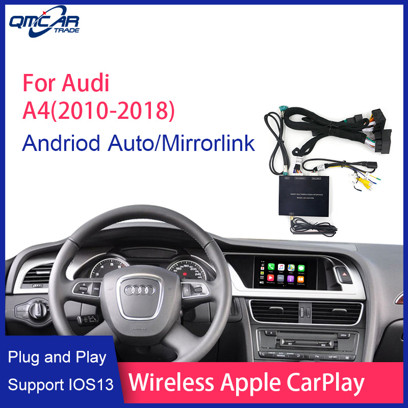 Wireless Apple CarPlay/Android Auto for 2010-2018 Audi A4 /Carplay HDMI Display Dis/Airplay Multimedia player Mirrorlink IOS 13 image