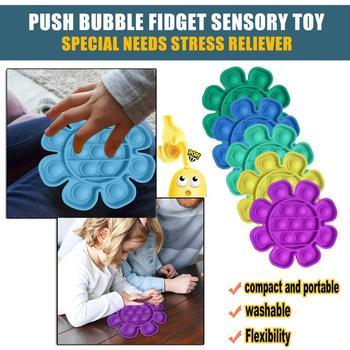 Fajny prezent fajne zabawki dla dorosłych i dzieci aby złagodzić stres Push Bubble Fidget zabawka sensoryczna autyzm specjalne potrzeby Stress Reliever tanie i dobre opinie CN (pochodzenie) Pinch Europa certyfikat (CE) 8 ~ 13 Lat 14 lat i więcej 2-4 lat 5-7 lat Dorośli Zawodów Silicone 12cm 12cm