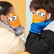 Детские утепленные рукавицы, зимние водонепроницаемые ветрозащитные толстые теплые лыжные рукавицы для сноубординга, расширенные запястья, милые лыжные перчатки