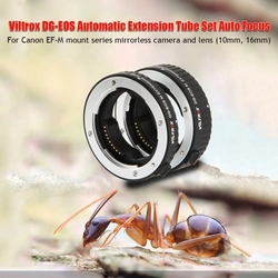 Hot 3C-Viltrox DG-EOS M Automatic Extension Tube 10mm and 16mm Auto Focus for Canon EF-M Mount Series Mirrorless Camera and Lens