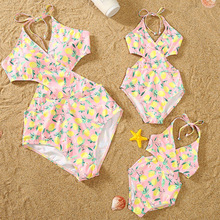 Matching Outfits Swimwear Dresses Family-Look Mommy Mum Daughter Me And One-Piece
