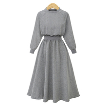 2019 Hot New Casual Solid Large Size Knitting Long Dress Women's Stitching Sweater Long-sleeved Dress Casual Autumn and Winter autumn korean girls dress tide spring long sleeved dress sweater stitching children solid fashion slit dress for 3 7t