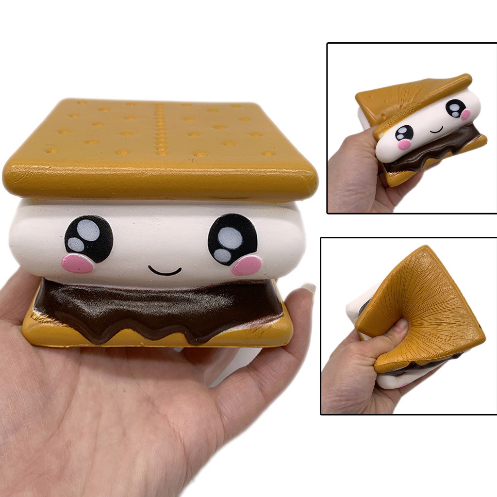 Simulation Sandwich Relieves Antistress Biscuit Toy Mini Adorable Sandwich Biscuit Slow Rising Stress Reliever Toy L0117