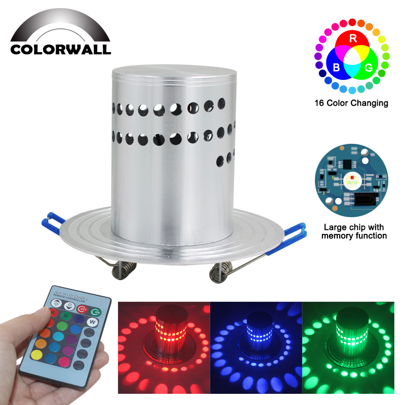 Creative LED Wall Sconce 3W RGB Wall Light Bedroom Bedside Modern Luminous Lighting Fixture AC85-265V Indoor Wall Decoration