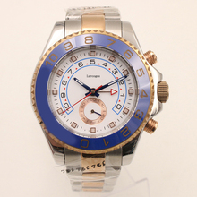 Luxury WristWatches 44mm Yacht Two Tone Rose Gold Stainless Steel Mens Automatic Mechanical Watches Big Dial Chronograph Full F