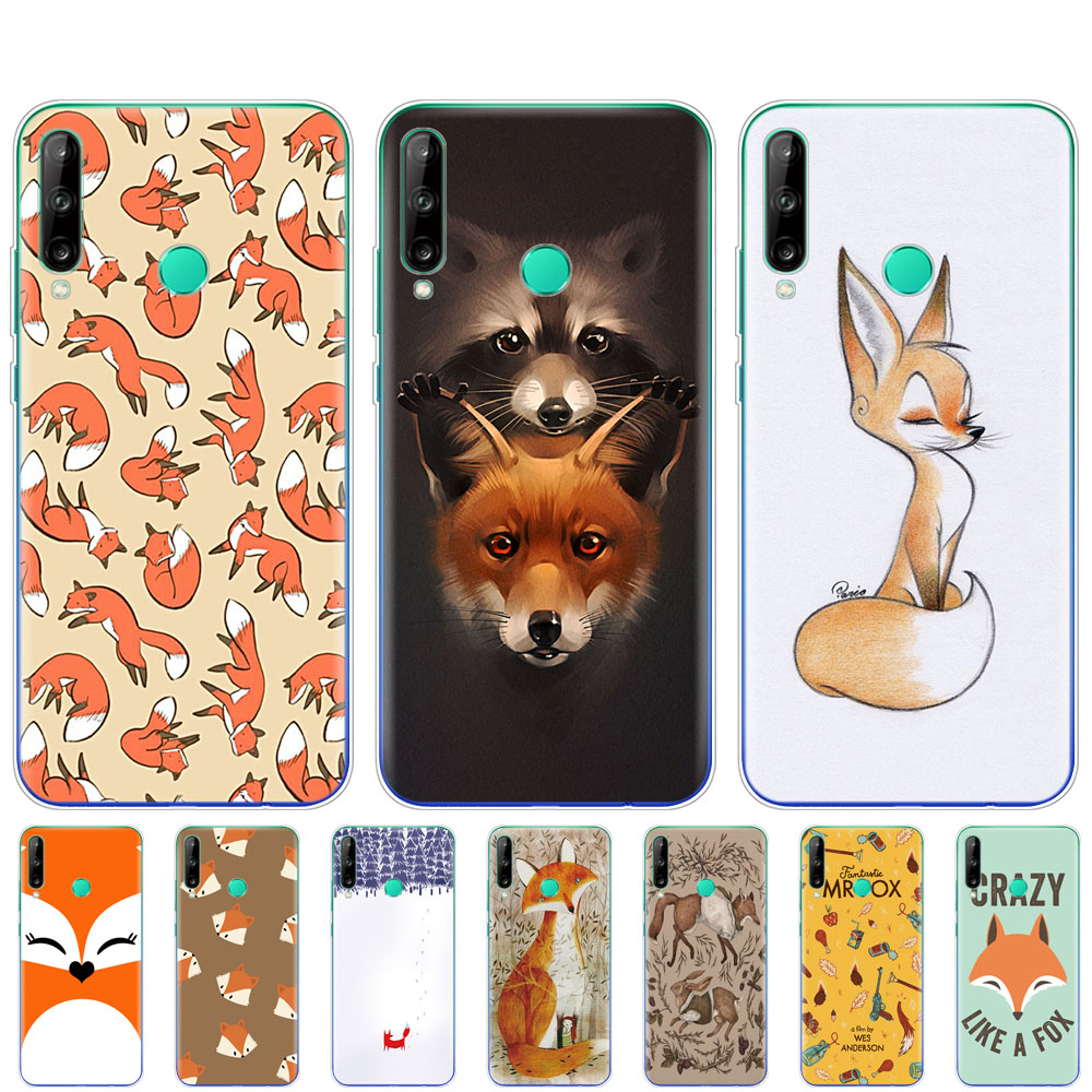 silicon phone <font><b>cover</b></font> <font><b>case</b></font> for <font><b>huawei</b></font> p40 lite E p40 pro <font><b>cover</b></font> for <font><b>huawei</b></font> Y7P Y6S Y9S <font><b>NOVA</b></font> <font><b>5T</b></font> coque fundas cute sly fox animal image