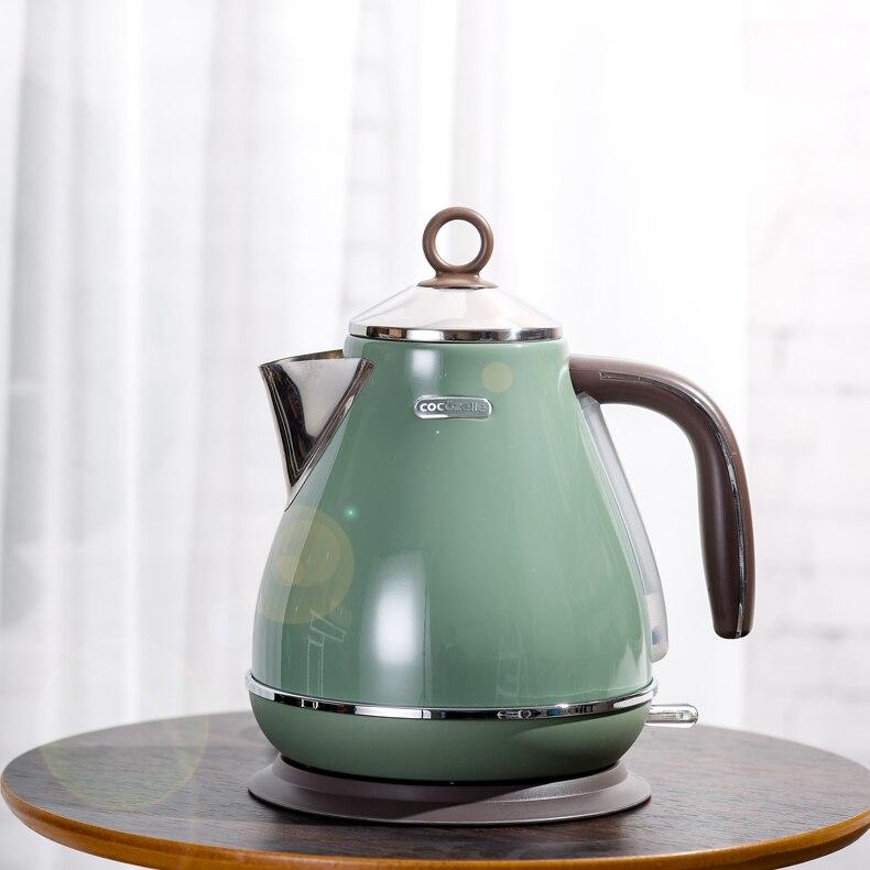 1800 Вт 1700 мл южнокорейский домашний ретро Электрический чайник 304 из нержавеющей стали электрический чайник для кипячения котел