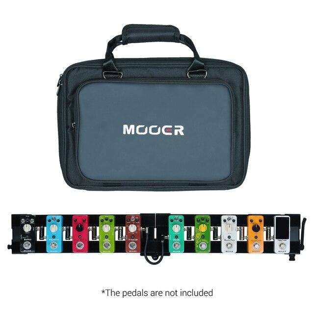 MOOER PB-10 profesjonalna gitara efekt pedałowy deska Pedalboard ze stopu aluminium 180 ° składana konstrukcja z wyściełana torba do noszenia