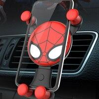 Suporte de celular para iphone xiomi  suporte gps de ventilação de carro para iphone  homem de ferro  vingadores  suporte gps oppo huawe