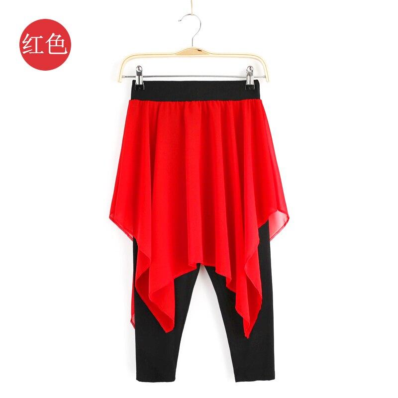Балетные тренировочные брюки танцевальные брюки женские взрослые Модальные формы современные танцевальные тренировочные ткани брюки для йоги танцевальный костюм - Цвет: red
