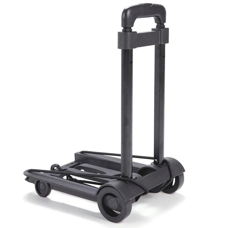 ELOS-Folding Luggage Cart Portable Trolley Travel Trunk Trailer Trolley Light Hand Cart Adjustable Home Travel Shopping Cart