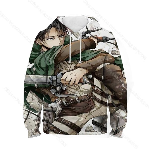 kids 3d print attack on titan hoodie children anime sweatshirt фотография