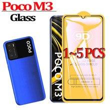 "PocoM3 ، زجاج حماية ل Xiomi Poco M3 الزجاج المقسى PokoM3 Poco م 3 6.53 ""حامي الشاشة كريستال Templado شاومي Poco M3"