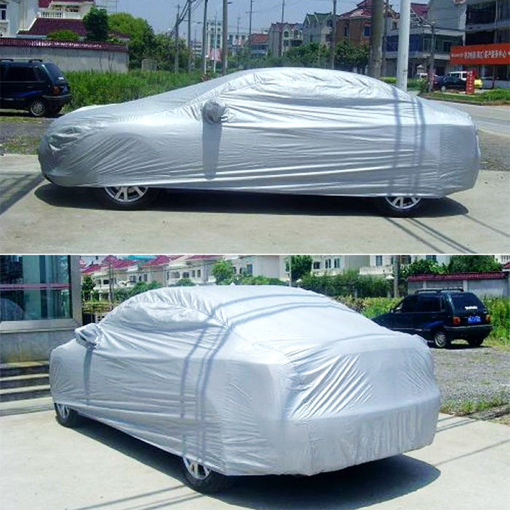 Car Cover Indoor Outdoor Sunscreen Heat UV Snow Sun Protection Scratch-Resistant Protect from Sun Rain Snow and Dust