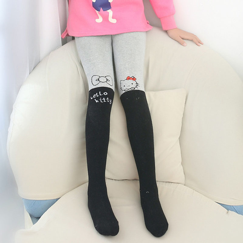 Disney Pantyhose For Girls Cute Hello Kitty Cartoon Tights Girls Infant Stockings Spring Thin Knitted Kids Children`s Pantyhose 1