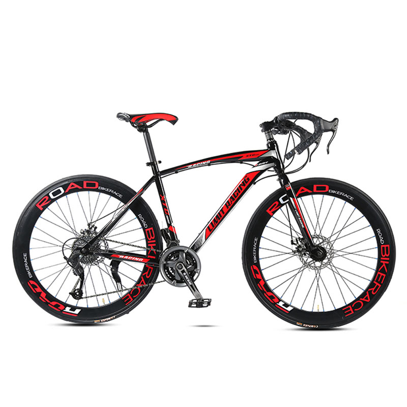 Road Bike Bicycle 27 Speed 26 Inch Fat Bike Bend Anti Skid Male And Female Students Suitable For A Variety Of Road Conditions