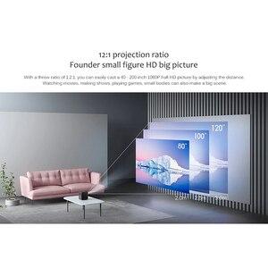 Image 4 - جهاز عرض ذكي من شاومي Fengmi DLP ثلاثي الأبعاد تلفاز فائق الدقة 1080P 550ANSI لومن M055DCN جهاز عرض يدعم 4K مسرح منزلي