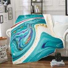 Цветное Флисовое одеяло с 3d принтом для кровати пешего туризма