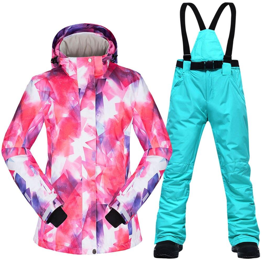 Новинка 2019, костюмы для сноуборда, женская одежда, лыжная куртка и штаны, зимняя уличная ветрозащитная водонепроницаемая одежда, зимний лыж...