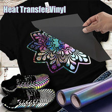 New Fashion Rainbow Reflective Lettering Film Heat Transfer Vinyl Film T-shirt Pattern