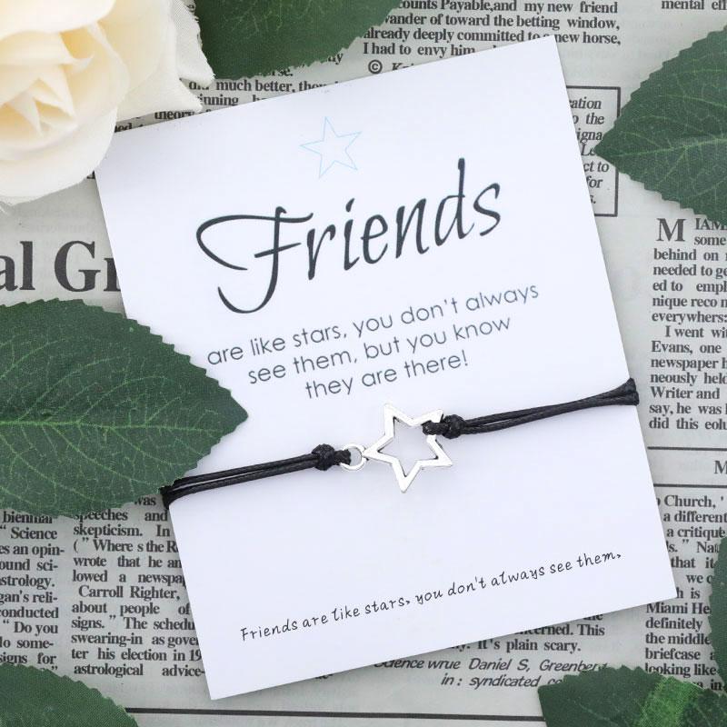 Друзья, как звезды, Φ, хорошие друзья, желают, браслет со звездами, для женщин и мужчин, дружба, лучший друг, подарок