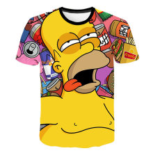 3d Print Simpson Jongens T Shirts Kids Roken Wiet Mannen Grappige Tee Streetwear Hip Hop Camiseta Trainingspak Tops Leuke Cartoon zomer(China)