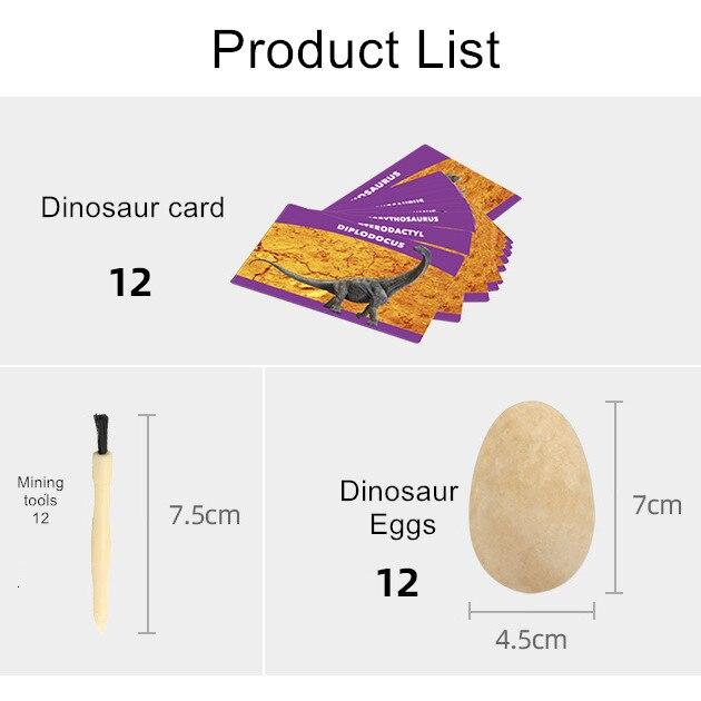 de dinossauro ovos escavando brinquedos educativos das crianças