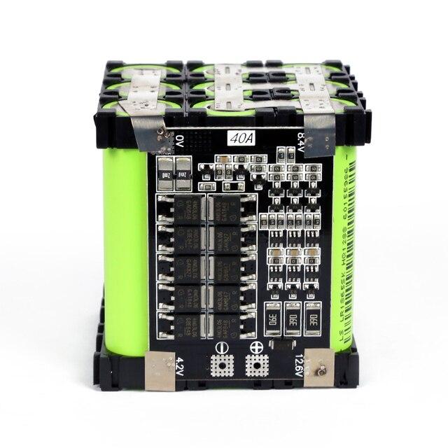 12v 16.8v 25.2v 29.4vバッテリー18650電源銀行3s 4s 6s 7s電動自転車のバッテリー電気自動車スクーター30A 40A bms diyバッテリーパック
