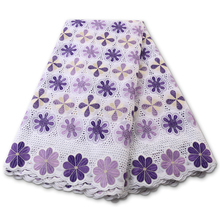 Lace-Fabric Switzerland Swiss Voile African Pure-Dry High-Quality Cotton PGC YA3883B-5