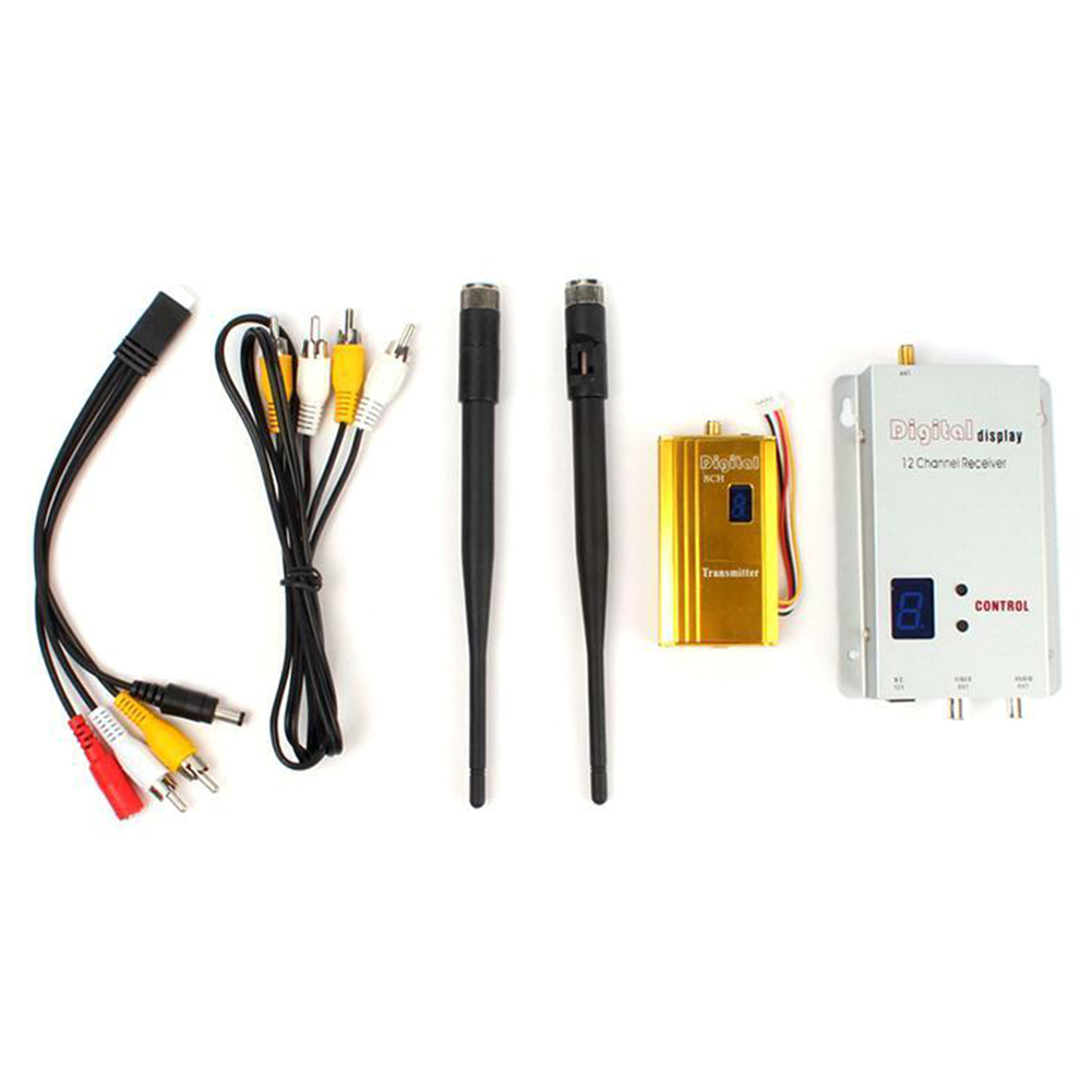 1.2G RC Model Easy Install Wireless Transceiver Multifunction Receiver Kit AV Transmitter Audio Video Home With Antenna Portable
