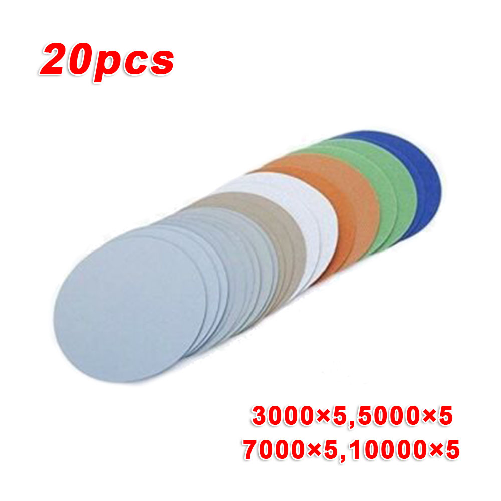 996A3Inch Disc Sandpaper Wet/Dry Grind Polishing 75mm Sanding Disc 3000-10000 Abrasion Resistance Sandpaper