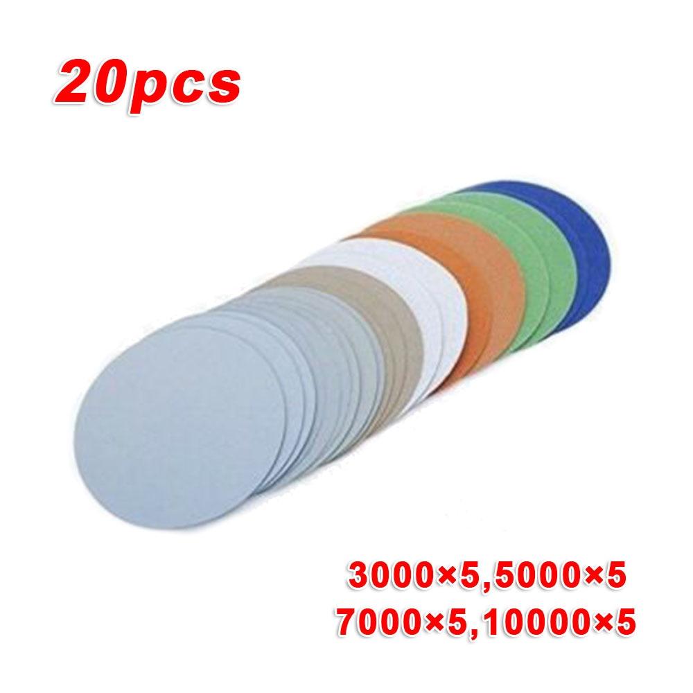 996A3Inch Disc Sandpaper Wet/Dry Grind Polishing 75mm Sanding Disc 3000-10000 Abrasion Resistance Sandpaper