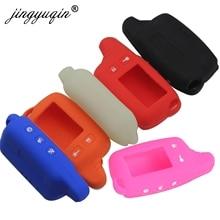 Jingyuqin غطاء من السيليكون لتوماهوك TW9010/TW9020/TW7000/TW7010 9030 9000 TW950 Lcd التحكم عن بعد اتجاهين إنذار سيارة مفتاح غطاء