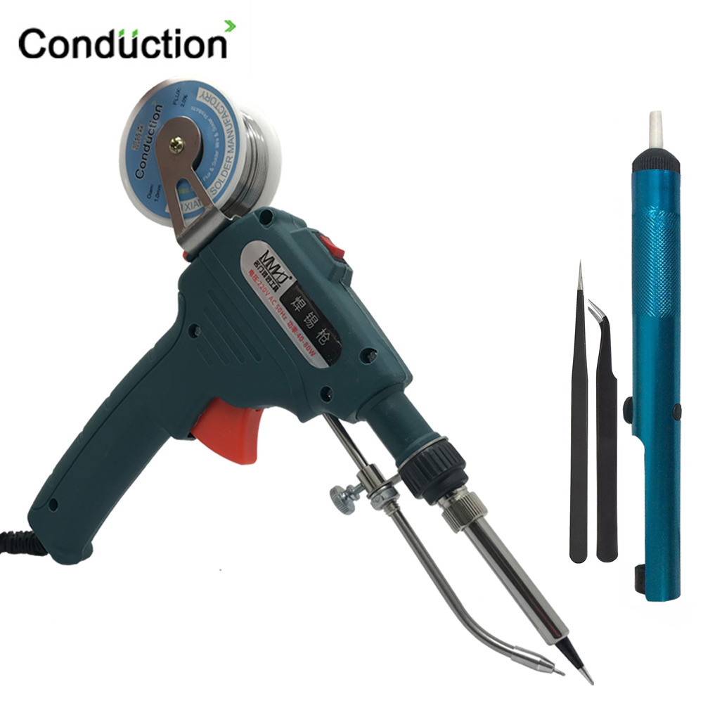 110V/220V 60W Hand-held Internal Heating Tin Electric Soldering Iron Kit Automatic Send Tin Gun Solder Repair Welding Tools