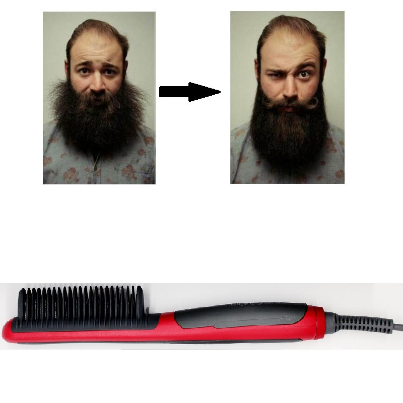Beard Straightener Portable Men Fast Beard Comb And Ceramic Heating  Comb For Man 2