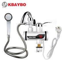 Robinet chauffe eau électrique instantané, sans réservoir, affichage de la température, eau chaude, pour la cuisine, puissance 3000W