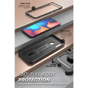Image 2 - SUPCASE For Samsung Galaxy A20 /A30 Case UB Pro Full Body Rugged Holster Case Cover with Built in Screen Protector & Kickstand