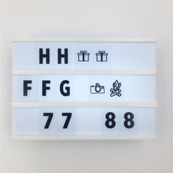 A6 tamanho cinema lightbox casa diy led noite lâmpada de energia por bateria com livre um conjunto letras pretas para decoração de casa lighing + a6 cartão