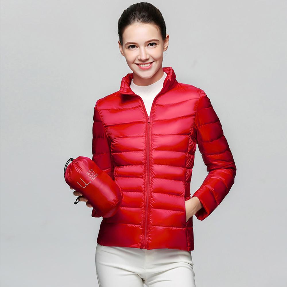 2019 Winter Women Jacket Coat Ultra Light Down 90% White Duck Down Jacket Coats ladies' Warm Down   Parkas   Spring Autumn Outwear